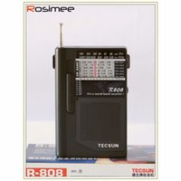 Wholesale Radio Receiver Sw - Wholesale-Portable TECSUN R-808 Radio High Sensitivity Receiver FM   MW   SW Radio Multiband World Band Receiver Y4141A Digital Receiver
