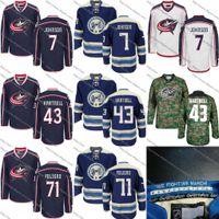 Wholesale Mens Star Jacket - Mens Columbus Blue Jackets Customized Jersey 7 Jack Johnson 43 Scott Hartnell 71 Nick Foligno 8 Zach Werenski 3 Seth Jones All-Star Jerseys
