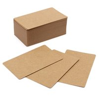 Wholesale Wholesale Note Cards Blank - Wholesale- 100Pcs pack Kraft Paper Label DIY Bookmark Blank Tags Retro Painting Written Word Message Note Card DIY Gift 9X5.5cm