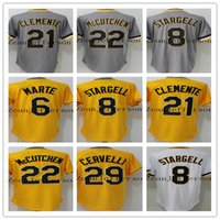 06cac9efcc1 Baseball Men Short 2017 men s 22 Andrew McCutchen 21 Roberto Clemente 29  Francisco Cervelli 8 Willie