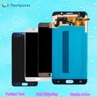 Wholesale Note Screen Digitizer - New Original For Samsung Galaxy Note 5 LCD Display Screen and Digitizer Touch Screen Panels with Adhesive Blue White Gold,Free DHL Shipping
