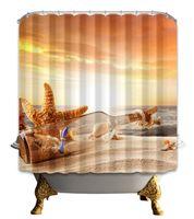 Wholesale Original Curtain - 2017 New Original Popular Digital Printing Drifting Bottle Shower Curtain 180*180cm Waterproof Polyester Bathroom Supplies Low Price
