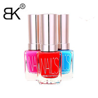 Wholesale Green Nail Polishes - Wholesale-2016 New Arrive 1Pcs 15ML Nail Varnish Enamel BK Brand fashion Nail Polish Professional Nail Art Cosmetics 8 Color Optional