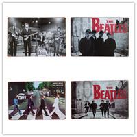 engraçado parede sinais venda por atacado-Os Beatles Abby Estrada Do Vintage Sinais De Lata De Metal Engraçado Retro Art Poster Homem Caverna Bar Pub Casa Decorações De Parede Placa