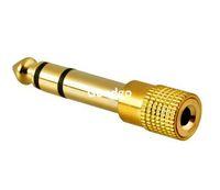 erkek dişi fişler toptan satış-50 adet / grup 6.5mm 1/4 Erkek 3.5mm 1/8 Kadın Altın kaplama Kulaklık Stereo Ses Jak Adaptörü Kulaklık Tak