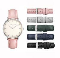Wholesale New Fashion Leather Usa - USA Brand ROSE Watches Leather Strap Fashion ladies quartz watch-Silver watch case