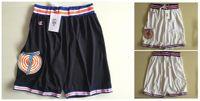 Wholesale Men S Classic Sweatpants - Space Jam White Black Basketball Shorts Men's Shorts New Breathable Sweatpants Teams Classic Sportswear Basketball Pant