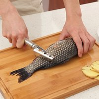 Wholesale Fish Scale Cleaners - Kitchen Tools Cleaning Fish Skin Stainless Steel Fish Scales Scraper Brush Remover Cleaner Descaler Skinner Scaler Fishing Tools