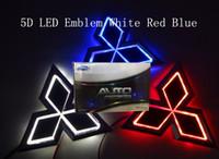 Wholesale car logos mitsubishi - 5D car led emblem car led badge car led symbols logo white red blue color for Mitsub**hi size 76x87mm
