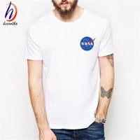 Wholesale Imported Mens Shirts - NASA T Shirts Men The Martian Matt Damon T shirt For Man 2017 O Neck Short sleeve IMPORT SPACE Tee Mens T-shirt,GT103