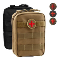 Wholesale Molle Medical Pouch - Empty Bag for Emergency Kits Tactical Medical First Aid Kit Waist Pack Outdoor Camping Hiking Travel Tactical Molle Pouch Mini