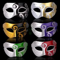 Wholesale Low Price Venetian Masks - 2018 NEW Mens jazz Mask Halloween Masquerade Prince Masks Venetian Dance party half Face PVC Mask Lowest Price MYY