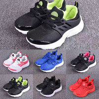 Wholesale Baby Train Shoes - Cute Baby Air Presto Running Shoes Children Athletic Shoes Boys Girls Training Sneaker Kids Sports Shoes Grey Black Red Size Euro 26-35