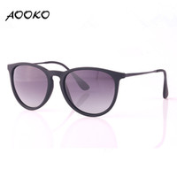 Wholesale Cat Eye Vintage Glasses Frames - AOOKO Fashion Erika Fashion Erike Polarized Gradient Sunglasses Brand Vintage Ladies Man Women Chris Sun glasses Oculos De Sol matte frame