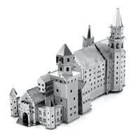 Wholesale Neuschwanstein 3d - Wholesale- Neuschwanstein Castle 3D Metal Puzzle For Children DIY International Architecture Puzzle Kids Toys For Boy