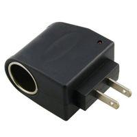 Wholesale Wholesale 12v Sockets - AC to DC Power Socket Adapter Converter,110~220V Mains to 12V Car Cigarette Lighter Socket Power Adapter Charger,Household Cigarette Lighter