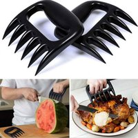 Wholesale Free Fork - Free DHL Grizzly Bear Paws Claws Meat Handler Fork Tongs Pull Shred Pork BBQ Barbecue Tool