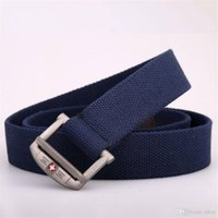 Wholesale Belt Buckle Rings For Women - New 2017 Military Equipment Tactical Fashion Swiss style Belt Man Double Ring Buckle Thicken Canvas Belts for Men Waistband nine colors