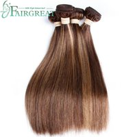 Fairgreat # P4 / 27 Light Color Brazilian Indian Peruvian Malaysian Straight Human Hair Extensions only 16