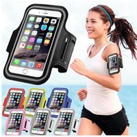 Wholesale Waterproof Case Xperia - Sports Arm band Case Waterproof Case For iPhone 5s 6s Samsung Galaxy S6 S7 J5 Xiaomi Mi5 Huawei Sony Xperia