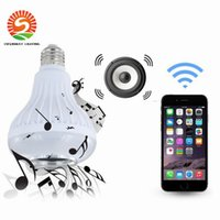 Hot Sales Wireless 12W Power E27 LED rgb Bluetooth Haut-parleur Bulb Light Lamp Musique Lecture RGB Lighting avec télécommande CE
