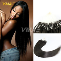 Virgin Brazilian Micro Ring Loop Extensions de cheveux Remy Micro Link Beads Extension de cheveux humains Soie Straight Keratin Fusion Ombre Red Blonde