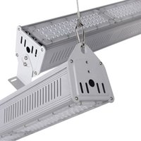 Wholesale Dhl Linear - DHL Free Shipping 130Lm w Lumileds LED Linear High bay lights 80W 120W 160W 200W Workshop lighting Hanging Light floodlight 3 Years Warranty