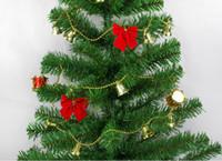 pequenas decorações de árvore de natal venda por atacado-Árvore de natal decoração borboleta nó jóias 12 Natal quente arco vermelho reunindo pequeno pingente suprimentos festivos