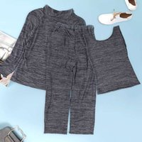Wholesale Yoga Outfit Wholesalers - The new fashion summer jogging outfit casual three-piece for the 2017 fashion casual wear trousers with long sleeves and sweatpants