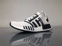 Wholesale Popular Boots For Men - Off-white NMDs Sport Shoes for Men NMD X Off White BA7246 Real Boost Popular Running Shoes With original logos