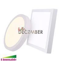 downlights carrés à montage en surface achat en gros de-9W 15W 21W 30W Dimmable rond / carré monté au plafond de voyant LED d'éclairage LED Downlights