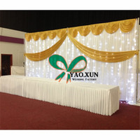 Good Looking White Wedding Baackdrop Curtain \ Stage Background inclui a luz Led