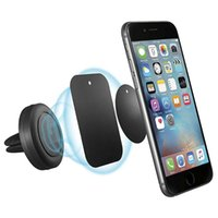 Wholesale Head Magnets - Universal Air Vent Magnetic Car Mount for iPhone and Samsung Easier Safer Driving Cell Phone Holders Magnets Bracket with Swivel Head CZ01