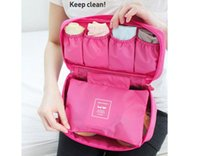 Wholesale Portable Bra Bag - Multifunctional travel to receive clothing bag used for travel within the bra finishing package Portable toiletry bag to receive bag
