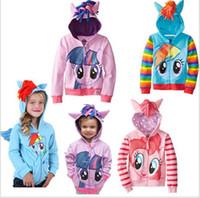 Wholesale Children Hoody Outwear - Girl children zipper hooded Outwear Coat Girls Hoodies Sweatshirts kids Baby long sleeve hoody Jackets clothing 2017 new style hot selling.