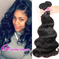 Wholesale Indian Bodywave Hair - 4 Pcs Malaysian Body Wave Virgin Hair Bundle Deals 7A Grade Unprocessed Human Hair Weave Bundles Wavy Human Hair Extensions Bodywave