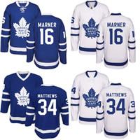 Wholesale Embroidery Jerseys - Toronto Maple Leafs Jersey Men's #16 Mitchell Marner #34 Auston Matthews #29 William Nylander 100% Stitched Embroidery Logos Hockey Jerseys