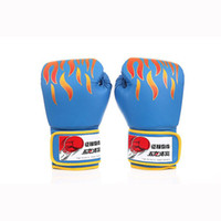 Wholesale fighting sports gloves - PU Boxing Gloves Fighting Sports Wearable Breathable MMA Training Fighting Sandbag Gloves Free Size Free Shipping