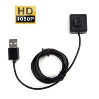 video 2m venda por atacado-HD 1080 P Botão pinhole Camera HD botão Camera DVR suporte de detecção de movimento 7/24 Horas Loop Gravar gravador de voz de vídeo Com Cabo 2 M