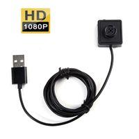 caméra d'enregistrement 24 heures sur 24 achat en gros de-HD 1080P bouton sténopé Caméra HD bouton Caméra DVR soutien détection de mouvement 7/24 heures Loop Record vocal vidéo enregistreur Avec 2M câble