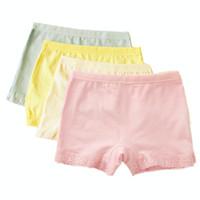 Wholesale Girls Lace Boxer Shorts - Kids Underwear for Girls Lace Princess Safety Pants Children Cotton Shorts Puberty Boxers Young Toddler Mix Color