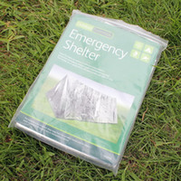 20pcs lot 240*160cm Waterproof Sliver Mylar Thermal Survival Shelter Emergency shelter for Camping tent Sporting Outdoor Free DHL