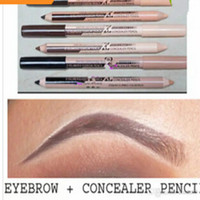Wholesale eyebrow concealer - New hot maquiagem eye brow Menow makeup Double Function Eyebrow Pencils & Concealer Pencils maquillaje free shipping