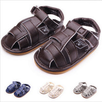 Wholesale baby boy strap sandals - 1 Pairs Lytwtw's Children Baby Kids Boys Shoes Non-Slip PU Toddlers Sandals Bebes Zapatos Ninas Newborn Infantil