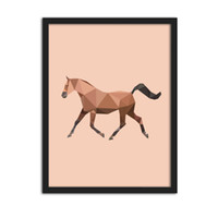 One Panel painting samples - Sample Geometric Shape Horse Canvas Art Print Painting Poster Wall Pictures for Home Decoration Home Decor Frame not include