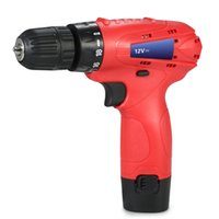 Wholesale 12v Cordless Electric Drill - 12V Lithium-Ion electric drill engraver dremel drill Electric Cordless drill Rechargeable Screwdriver power tools with LED Light