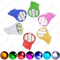 Wholesale Wedge Base Led Bulbs - FEELDO High Power 7-Color T10 194 168 1206 Chip 8SMD Wedge Base Car LED Light Bulbs #2615