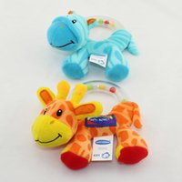 modèle de zèbre achat en gros de-Vente en gros - Jouets pour bébés Zebra Giraffe Animal Model Handbell Teether Rattles Infantile Early Educational Soft Peluche Toys