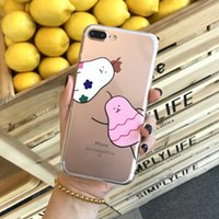 Wholesale Pear Phones - Lovely pear Phone Case For iPhone 6 6s 7 7Plus Case 3D Relief Cute Cartoon Animal Back Cover Soft Silicone Fashion Coque HOT