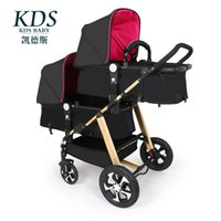 Wholesale Baby Pram System - Portable Twins Baby Stroller,Baby Prams Pushchairs Carriage Travel System,Folding Stroller Lightweight with 12 free gifts